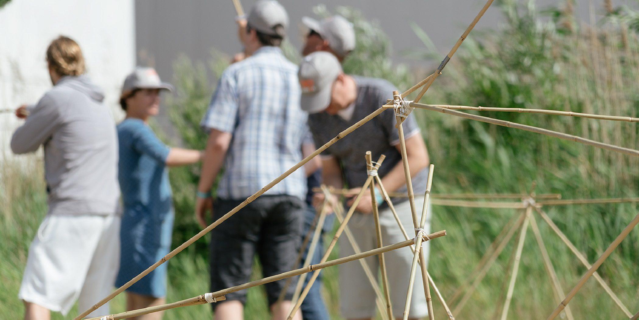 Bamboe Challenge Bedrijfsuitje