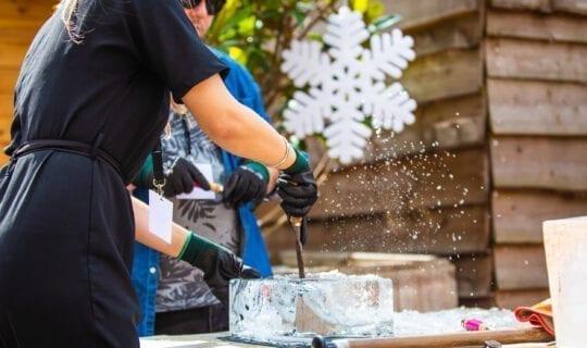 ice sculpting workshop winter wonderland event amsterdam