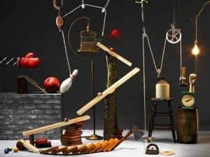Rube Goldberg chain reaction teambuilding amsterdam