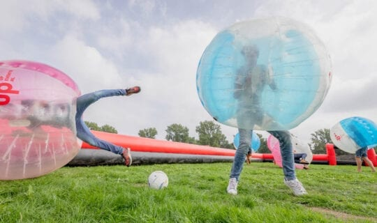 Teamuitje Amsterdam Bubbel Voetbal
