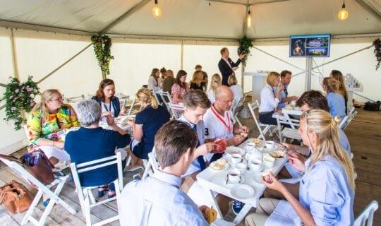 Vergaderen Amsterdam lunch en diner ronde tent