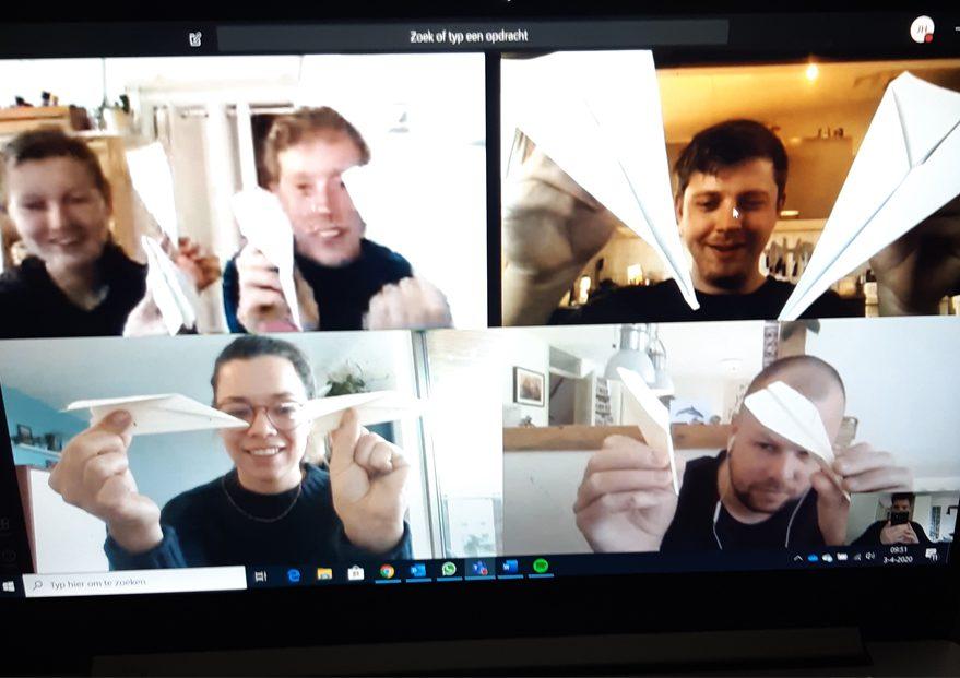 Online Teambuilding challenge met vrienden