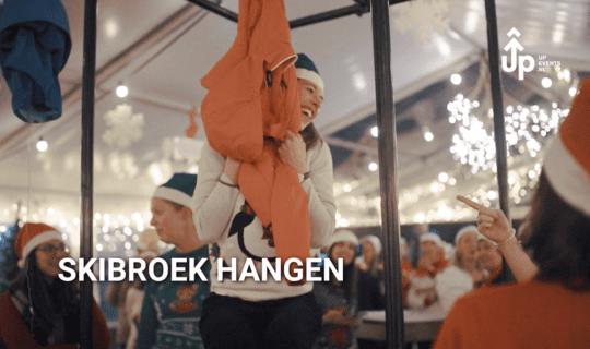 Skipants hanging winterparty Amsterdam